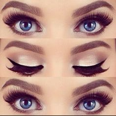 Want your blue eyes to pop out even more?...Try this!!