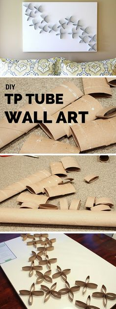 Check out the tutorial: #DIY TP Tube Wall Art #crafts #homedecor