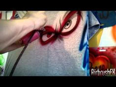 "Airbrushing ""evil eyes"" design"