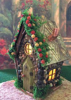 Are you an enthusiast to fairy tales and beautiful creatures? Creating a fairy . - Are you an enthusiast to fairy tales and beautiful creatures? Creating a fairy garden will enhanc - Small Garden Fairies, Mini Fairy Garden, Fairy Garden Houses, Diy Garden, Garden Ideas, Fairy Gardening, Garden Cafe, Clay Fairy House, Create A Fairy