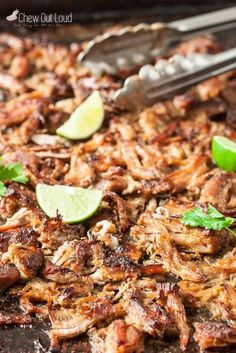 Pork Carnitas Recipe (Mexican Pulled Pork) – Chew Out Loud - Pork Recipes Mexican Pulled Pork, Pulled Pork Recipes, Pork Carnitas Recipe Dutch Oven, Leftover Pork Carnitas Recipe, Mexican Pork Tacos, Cuban Pork, Pork Tenderloin Recipes, Pork Roast, Gastronomia