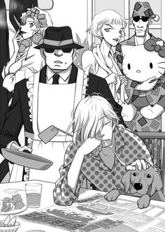 Black Organization<<I know these guys are terrifying but this is adorable.