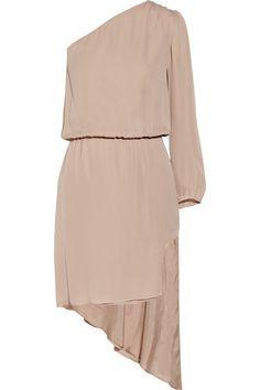 Mason by Michelle Mason Asymmetric silk dress