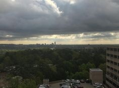 Clouds over downtown