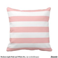Modern Light Pink and White Stripes