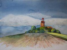 Native American Prayers, Baltic Sea, The Good Place, Watercolor, Landscape, Painting, Desktop Backgrounds, Art, Places