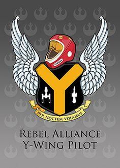 Per Noctem Volamus - Rebel Alliance Y-Wing Pilot