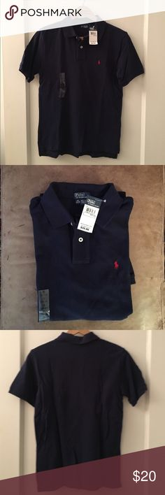 NWT Ralph Lauren Navy Polo NWT Ralph Lauren short sleeved Polo. Navy with red logo. Polo by Ralph Lauren Shirts & Tops Polos