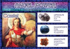 Angel Power: Cassiel! Wiccan Spells, Magick, Natural Crystals, Stones And Crystals, Archangel Cassiel, Spiritual Images, Angel Guidance, Minerals And Gemstones, Book Of Shadows