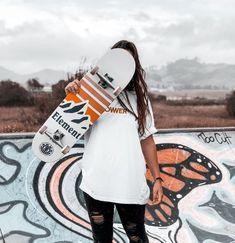 Lost in myself - Skateboard - Skater Girls Skateboard Deck Art, Skateboard Design, Electric Skateboard, Skateboard Girl, Skateboard Clothing, Skateboard Pictures, Skateboard Tumblr, Skater Girl Style, Skater Girl Outfits