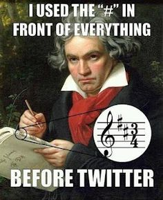 """I used the """"#"""" in front of everything before Twitter. Love this, even though I don't have a twitter.:)"""