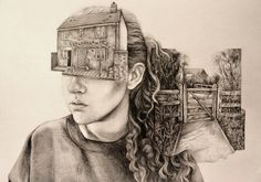 Artist Pat Perry's detailed sketches display memories as tangible objects and intricate landscapes. Illustrators, Gcse Art Sketchbook, Sketches, Illustration Character Design, Student Art, Artist Models, Time Art, Art, Memory Artwork