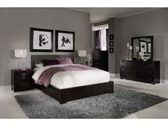 i really like this bedroom the black gray white with just a hint of purple maybe some hints of muted greens and purples via a simple vase black bedroom furniture hint