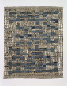 "Anni Albers, ""Tikal,"" 1958, cotton, plain and leno weave…"
