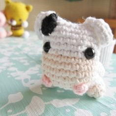 Crochet your own amigurumi cow for spring! Free pattern available. cute. thanks so xox