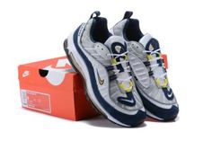 Mens Shoes Nike Air Max 98 White Tour Yellow Midnight Navy 640744 105 Nike  Air Max 82659ee59