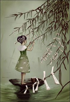 Prayers on a weeping willow by Diego Penuela---Thought I was the only person who love this ....