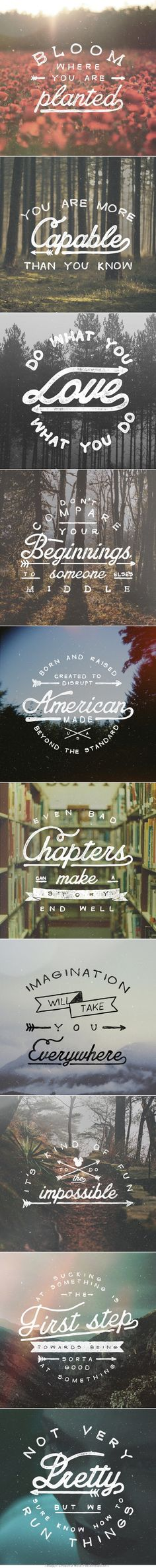 Motivational Hand Lettering // Vintage Retro Grain Photo