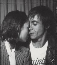 Iggy Pop and friend.  There is something so sweet about this photo.