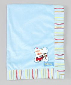 Loving this Blue One Fish Two Fish Receiving Blanket on #zulily! #zulilyfinds