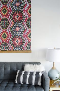DIY Large-Scale Tapestry Wall Hanging