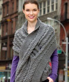 Pull-Through Wrap Free Knitting Pattern
