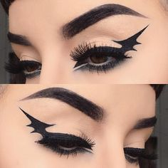 Bat wing!  I used @rimmellondonuk scandal eyes pen liner and exaggerate liquid…