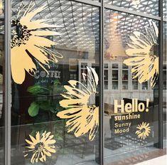 Stickers Vitrine, Window Stickers, Window Decals, Vinyl Wall Decals, Wall Stickers, Custom Decals, Spring Window Display, Window Display Retail, Boutique Window Displays