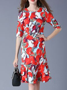 Buy it now. Red Apple Print Frill Dress. Red Round Neck Half Sleeve Polyester Sheath Knee Length Print Fabric has no stretch Summer Casual Day Dresses. , vestidoinformal, casual, camiseta, playeros, informales, túnica, estilocamiseta, camisola, vestidodealgodón, vestidosdealgodón, verano, informal, playa, playero, capa, capas, vestidobabydoll, camisole, túnica, shift, pleat, pleated, drape, t-shape, daisy, foldedshoulder, summer, loosefit, tunictop, swing, day, offtheshoulder, smock, prin...