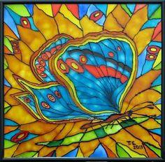 butterfly art glass - Google Search