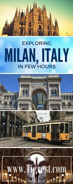 How to spend few hours in Milan italy? Best places to visit, things to eat and tips how to get to/from bergamo airport Cool Places To Visit, Places To Travel, Travel Destinations, Vacation Places, Vacation Spots, Milan Travel, Italy Vacation, Italy Trip, Italy Tours