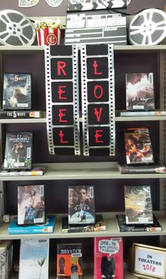 Reel Love - Read the book and then watch the movie. - Library Display