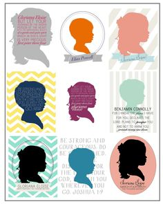 Custom Silhouette Print in Collaboration with NaptimeDiaries. $1.00, via Etsy.