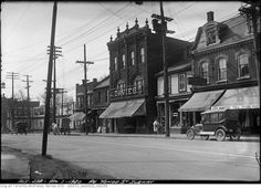 Yonge Street predates confederation by of a century. Here are some great Vintage Yonge Street pics from that show the changes. Yonge Street, Toronto Ontario Canada, Historical Architecture, Model Trains, Vintage Photographs, Montreal, Past, Scenery, History