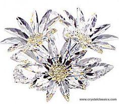 swarovski flowers | ... flower Maxi Flower Arrangement; faceted base; topaz crystal accents