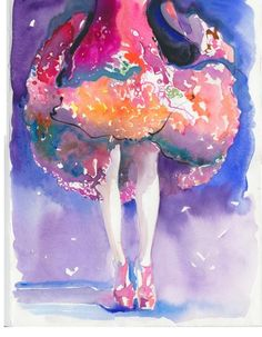 Cate Parr is an amazing artist I have come to know and love on Etsy. I just love this Summer Dress watercolour illustration by silverridgestudio