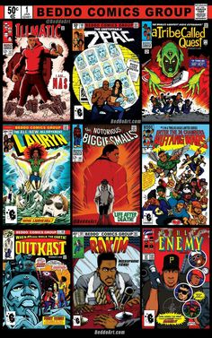 Beddo Art classic Marvel covers Hip-Hop style