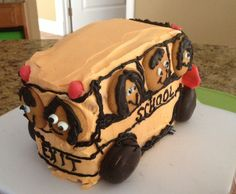 Tradition in my house is to make a bus cake on the first day if school I've been doing it for 8 years +