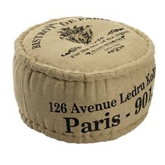 Puff LESTER säckväv med tryck #puff #inredning #vintage #shabbychic #sovrum #vardagsrum  http://jysk.se/vardagsrum/puffar/puff-lester-sackvav-med-tryck