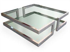 Mesinha quadrada de vidro Coleção Lisa by Gonzalo De Salas