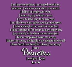 """The Princess Pledge.. though it starts out that acting like a princess is being kind, compassionate and brave, are girls learning to be have this way? Has """"Princessification"""" lead to more generous and kind hearted women?"""
