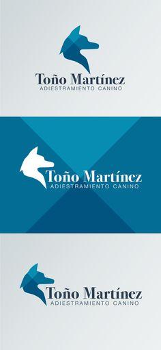 Diseño de logotipo de Toño Martínez, adiestramiento canino.