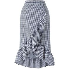 Miss Selfridge Gingham Frill Midi Skirt (215 BRL) ❤ liked on Polyvore featuring skirts, assorted, frilly skirt, frilled skirt, flouncy skirt, ruffled skirts and miss selfridge skirts