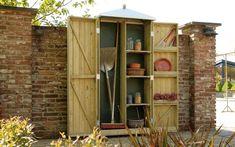 Bekijk de foto van jmloriaux met als titel ondiepe tuinkast voor het bewaren van tuingereedschappen en potjes 89x43x210 en andere inspirerende plaatjes op Welke.nl.