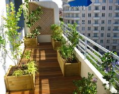 1000 images about balcon et terrasse on pinterest - Decoration balcon long et etroit ...