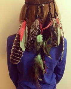 Feather Headband - Feather Hairpiece - Festival Headband - Hippie Headband - Hair Accessories - Bohemian - Tribal