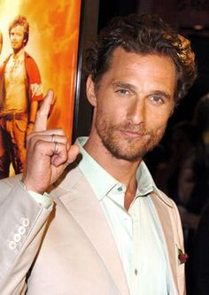 Matthew McConaughey - I gotta say he has looks alot like my brother Spencer. He's got those eyes! :)