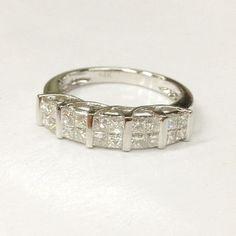 http://rubies.work/0387-sapphire-ring/ 1ctw VS-H Diamond Wedding Ring 14K White Gold,Invisible Princ… More