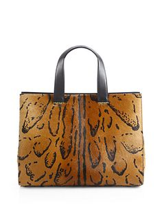 Giorgio Armani - Leopard-Print Calf Hair Medium Shopper - Saks.com  Love this bag...