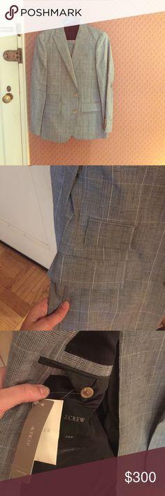 Men's BNWT JCrew Ludlow microcheck suit Brand new jcrew men's microcheck Ludlow suit in Italian subalpino fabric. Coat is 38R, pants are ludlow slim w 30 l 30. Never worn, kept in suit bag.  retail was $650! J. Crew Suits & Blazers Suits